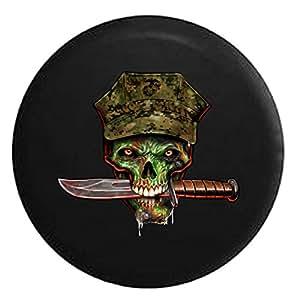 Amazon Com Usmc Green Skull With Knife And Digital Camo