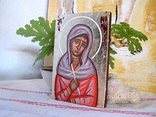 St Niki miniature icon Greek orthodox saint name day gift made in Greece