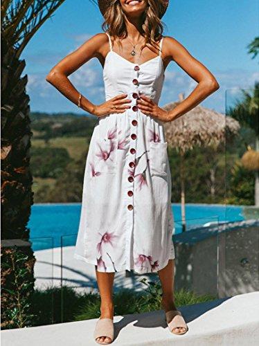 e1dcf5cfa789 ... Damen Sommerkleider Frauen Kleid Vintage Abendkleid Polka Boho  Beiläufige Lange Maxi Kleid A Line Swing Kleider ...