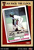 1987 Topps # 311 Turn Back The Clock Rickey Henderson Oakland Athletics (Baseball Card) Dean's Cards 8 - NM/MT Athletics