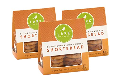 Burnt Sugar and Fennel Shortbread Cookies by Lark Fine Foods - Pack of 3 (Shortbread Cookies Sugar)