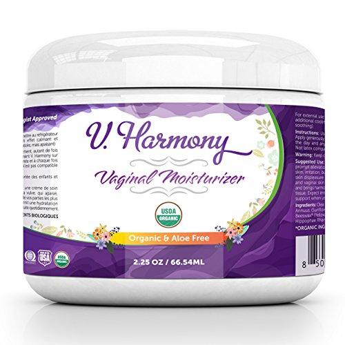 (Vaginal Moisturizer - Vulva Balm - USDA Organic Aloe Free & Natural Vaginal Cream - Intimate Skin Cream - Help Reduce Vaginal Dryness & Itching - Estrogen Free Treatment - V. Harmony)