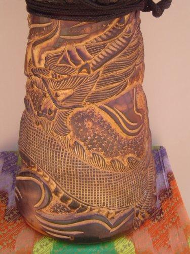 PRO DJEMBE 24'' X 14'' Djembe Deep Carved Hand Drum Bongo DRAGON - Model # 60m25 + COVER