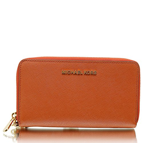 a8a2e75bbba8 Michael Kors Womens Jet Set Travel Leather Continental Wallet Wristlet -  Acorn | 11street Malaysia - Clutches & Wrislets