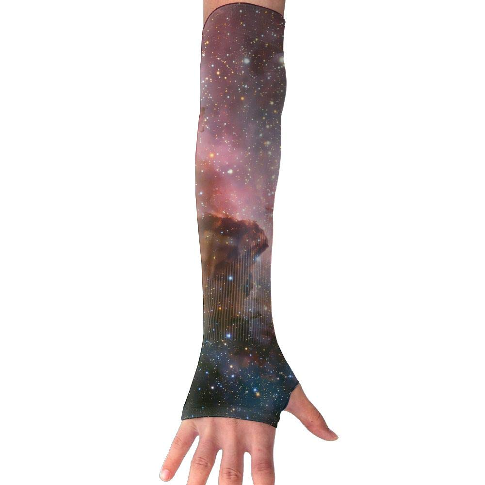 RUNNING BEAN Starry Sky Anti-UV Sleeves Gloves Sun Protection Sports Protective Armor Sleeves