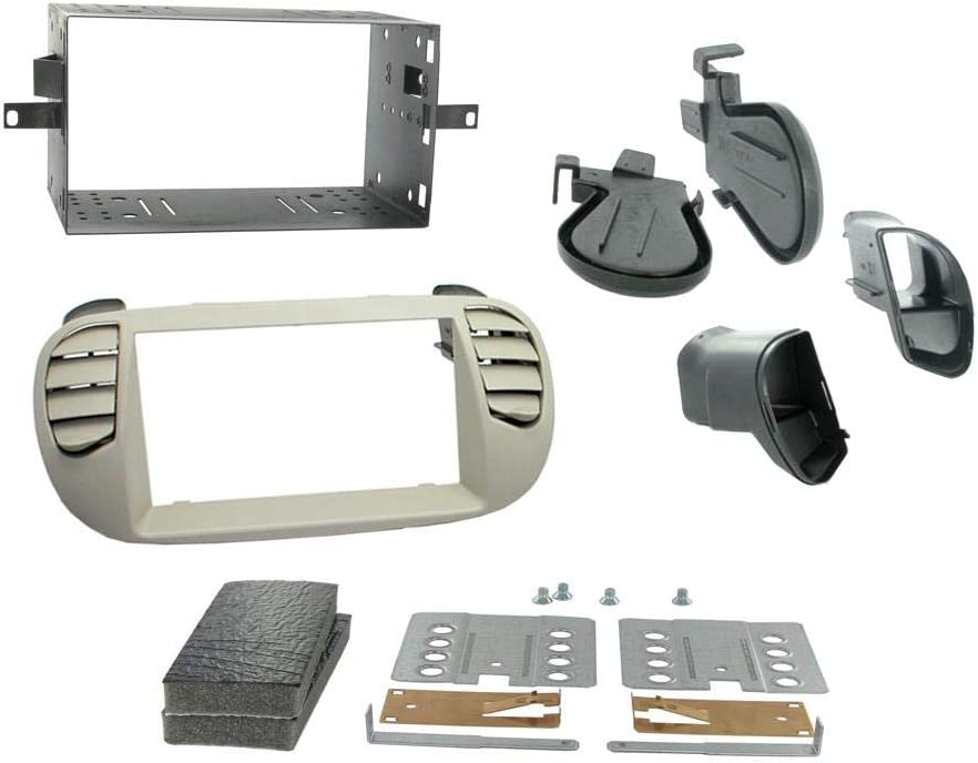 Connects2/ ct23ft14/ Fiat 500/ 2008/  Ivoire Kit de montage dautoradio double DIN Surround