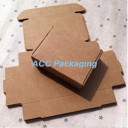 Saasiiyo Small 4x4x2cm Kraft Paper Gift Box for Jewelry Pearl Candy Handmade Soap Baking Box Cake Cookies Chocolate Package Packing - Pearl Ms Outlet
