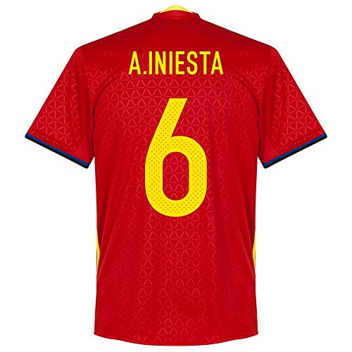 Spanien Home Trikot 2016 2017 + A.Iniesta 6 - M