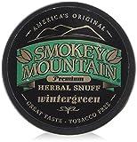 Smokey Mountain Premium Herbal Snuff WINTERGREEN - 1.0 Canister (5 Pack) Tobacco Free