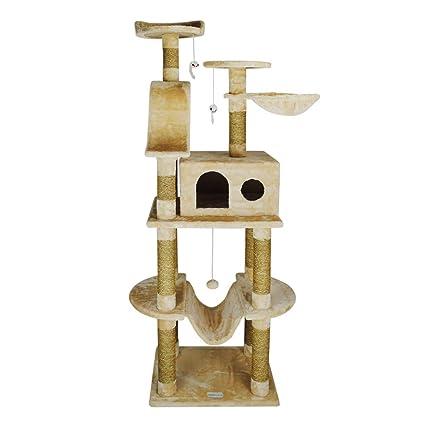 Árbol de gato Centro de Actividad Cuerda de Alga Marina Gato Grande Escalada Molienda Multilaminado Nido