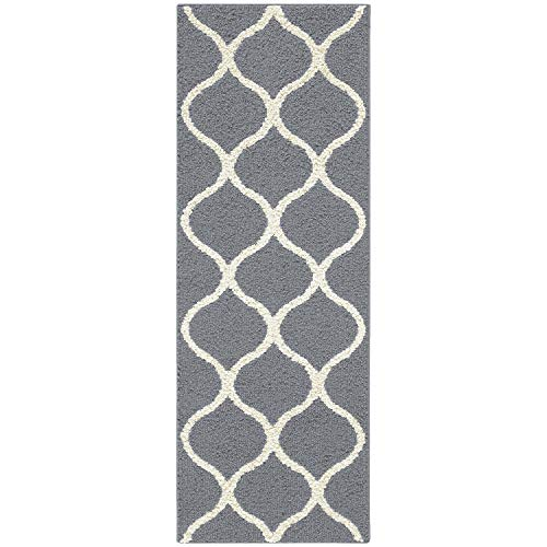 Maples Rugs Runner Rug - Rebecca 1'9 x 5' Non Skid Hallway Carpet Entry Rugs Runners [Made in USA] for Kitchen and Entryway, - Runner Thin Rug
