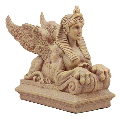 Ebros Ptolemaic Era Egyptian Sphinx Statue 8 Long Ancient Egyptian Gods and Pharaohs Sphinx Guardian Deity Figurine
