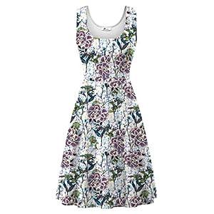 Herou Women Summer Casual Floral Sleeveless A-Line Sun Dresses