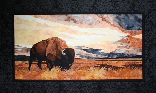Into The Storm Buffalo Bison Toni Whitney Designs Applique Quilt Pattern