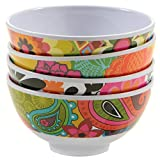 French Bull 4.5-Inch Floral Pattern Mini Bowl Set, Set of 4
