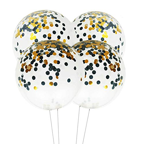 36 inch Giant Black and White Confetti Balloons Baby Shower Birthday Party Decorations, 4pc for $<!--$10.88-->