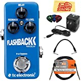 TC Electronic Flashback Mini Delay Bundle with Power Supply, Instrument Cable, Patch Cable, Picks, and Austin Bazaar Polishing Cloth