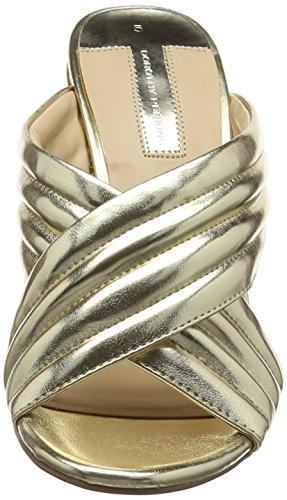 Dorothy Perkins Sydney Cross Over, Zapatos de Punta Descubierta Mujer Oro (Gold)