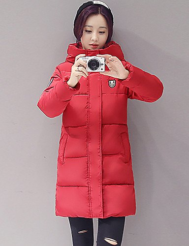 Letter White Black Long Red Sleeve L Gray YRF CoatSimple Women's Pink Hooded Padded BLACK ZRw5xIqC6
