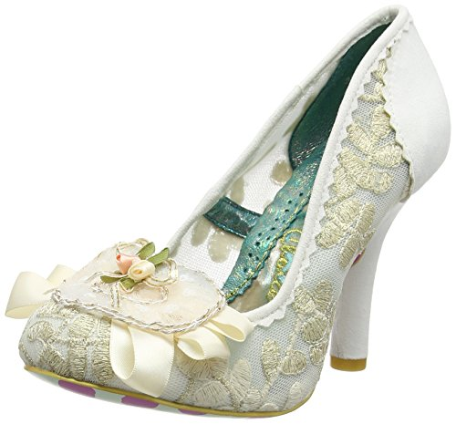 Irregular Off Pumps Cream Glinda Women's Closed white Choice Toe 6wO6U1x