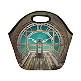 Gogogosky Custom Reusable Steampunk Clock In An Empty Room Lunch Box Food Savers Storage Containers