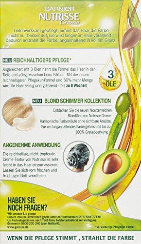 Garnier Nutrisse Creme Coloration Toffee Mittelblond 70, Färbung für ...