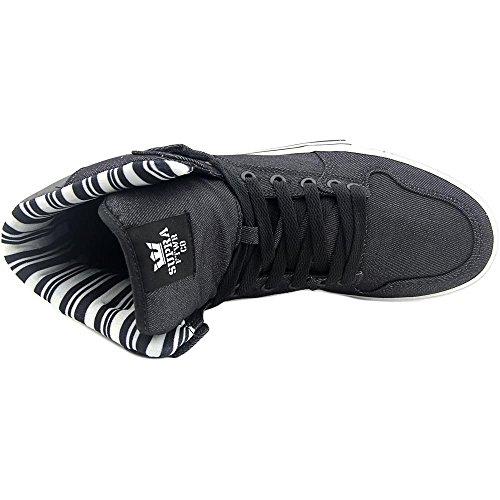 Supra Vaider Skate Shoe Black - Blanco-m