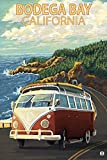Bodega Bay, California - VW Van Coastal