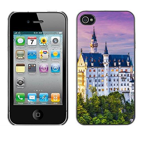 Premio Sottile Slim Cassa Custodia Case Cover Shell // V00002612 Neuschwanstein // Apple iPhone 4 4S 4G