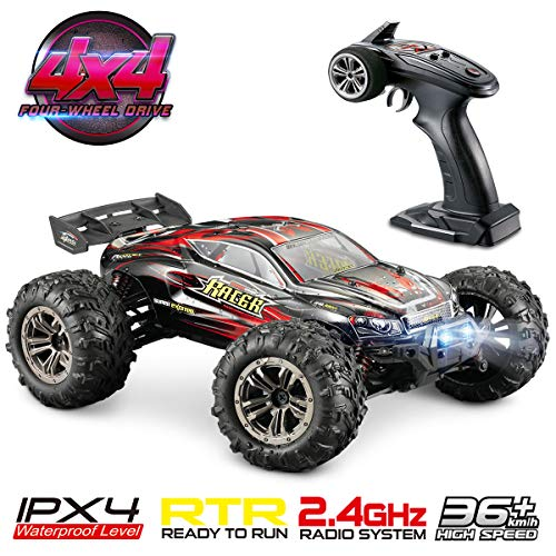 (Hosim High Speed 36km/h 4WD 2.4Ghz Remote Control Truck 9138, 1:16 Scale Radio Conrtolled Off-Road RC Car Electronic Monster Truck R/C RTR Hobby Cross-Country Car Buggy)