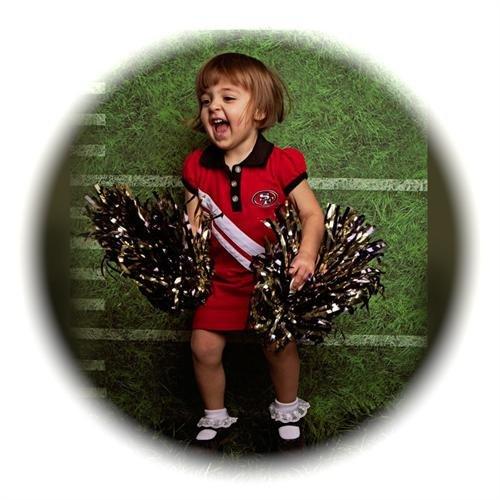 49ers baby cheerleader dress - 6