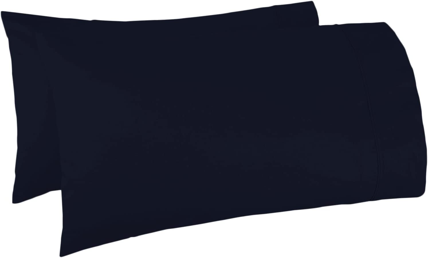 Amazon Com 500 Thread Count 100 Egyptian Cotton Pillow Cases Navy Blue Standard Pillowcase Set Of 2 Long Staple Combed Pure Natural 100 Cotton Pillows For Sleeping Soft Silky Sateen Weave Bed Pillow Cover Home
