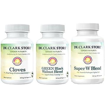 Dr  Clark Green Black Walnut, Wormwood, and Cloves