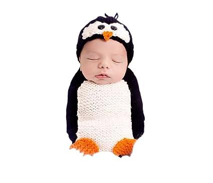 Deley Baby Boys Girls Crochet Cosplay Penguin Costume Cute Infant
