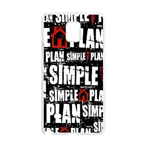 Printed Quotes Phone Case simple plan For Samsung Galaxy Note 4 N9100 Q5A2112681