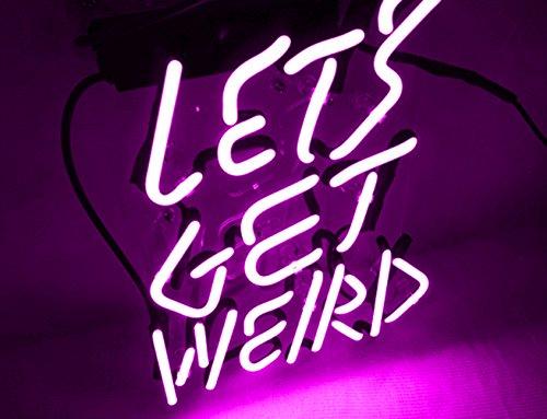 Cool neon light sign let 39 s get weird for girls bedroom beer bar garage windows game room 12 x 9 - Outstanding pictures of cool girl bedroom for your beloved daughters ...
