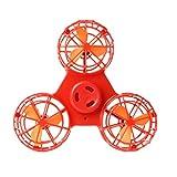 Fiaya Tiny Toy Drone 4 Modes Flying Spinner Flying Gyroscop Toy Gift (Red)