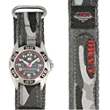 Ravel Grey Camouflage Fabric Strap Quartz Boys Watch R1507.4