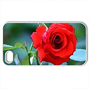 Blood - Case Cover for iPhone 4 and 4s (Flowers Series, Watercolor style, White)