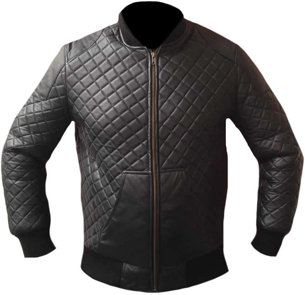 coolhides Mens Fashion Bomber Style Leather Jacket