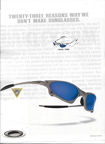 --PRINT AD-- For 2002 Oakley X Metal Penny Sunglassses --PRINT - Sunglasss