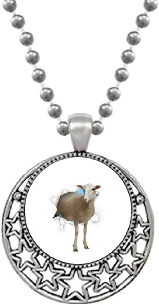 OFFbb-USA What If an Animal Put On Your Skin Necklaces Pendant Retro Moon Stars Jewelry