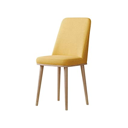 Amazon.com - Dining Chair Wooden Living Room Chairs Leather Kitchen ...