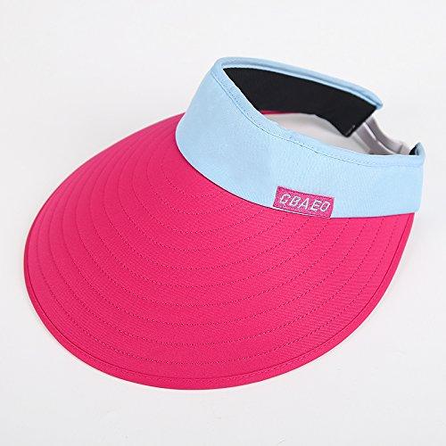 Empty top red Women's Adjustable Beach Floppy Sun Hat