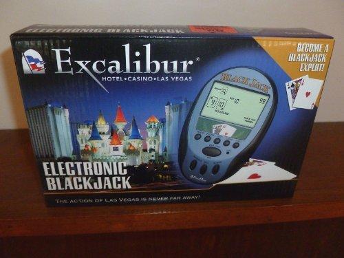 EXCALIBUR ELECTRONIC BLACKJACK HANDHELD GAME by Excalibur