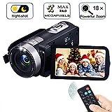 Video Camera Camcorder with IR Night Vision, IBACAKYS 18X Digital Zoom 24.0 Mega