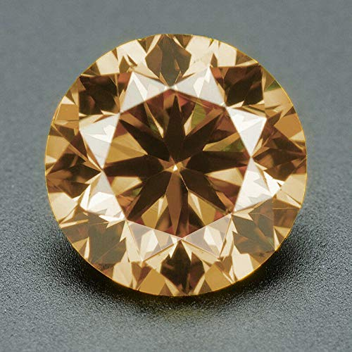 CERTIFIED 3.2 MM / 0.13 Cts. Natural Loose Diamonds, Pack of 2, Fancy Champagne Brown Color Round Brilliant Cut VVS1-VVS2 Clarity 100% Real Diamonds by IndiGems ()