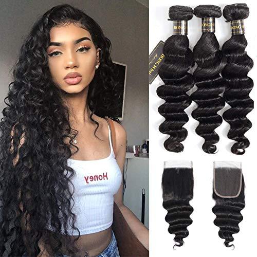 Cheap peruvian hair bundles with closure _image2