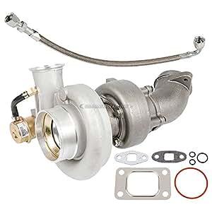 Turbo Kit With Turbocharger Gaskets & Oil Line For Dodge Ram Cummins 5.9L 24v -