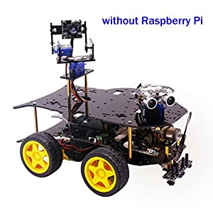 Yahboom Raspberry Pi 4B/3B+ Project Smart Robot Car Kit with HD Camera, Programmable Robotice Truck with 4WD, Electronics Education DIY Set for Teens (Raspberry Pi not Include